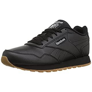 Reebok Classic Harman Run Sneaker, black/steel/gum, 7.5 M US
