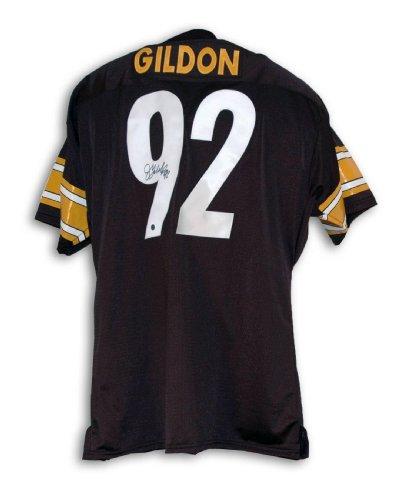 Jason Gildon Autographed Jersey - Black Throwback - Autographed NFL Jerseys Autographed Nfl Throwback Black Jersey