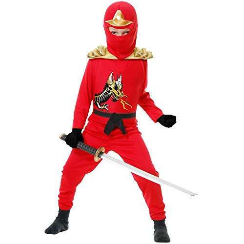 Ninja Avenger II with Armor, Red, Child Medium]()