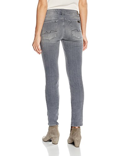 7 for all mankind Cristen, Jeans Mujer Grau (SLim Illusion Ivory Grey SG)