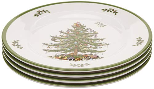 - Spode Christmas Tree Melamine Salad Plate, Set of 4