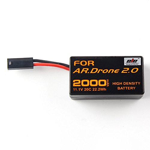 Eleoption 2000mAh 11.1V Powerful Rechargeable Battery Replacement for Parrot AR.Drone 2.0 Quadcopter