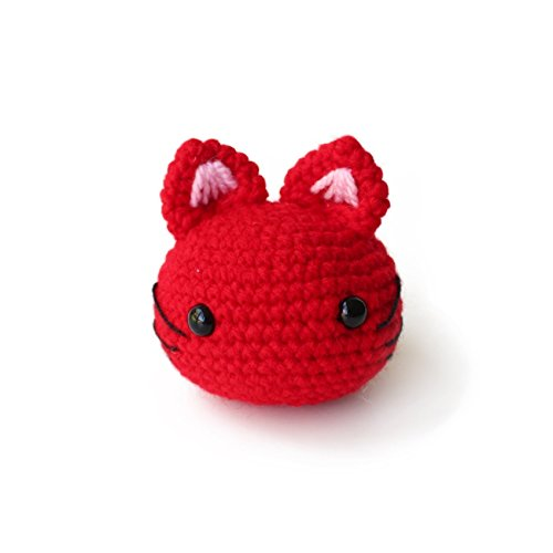 Amigurumi crochet cat stress ball by Geekirumi! - Squeeze anti stress/anxiety - Hand therapy toy - Panthers Desk