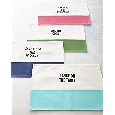 kate spade new york Food for Thought Placemat-Vivid Snapdragon
