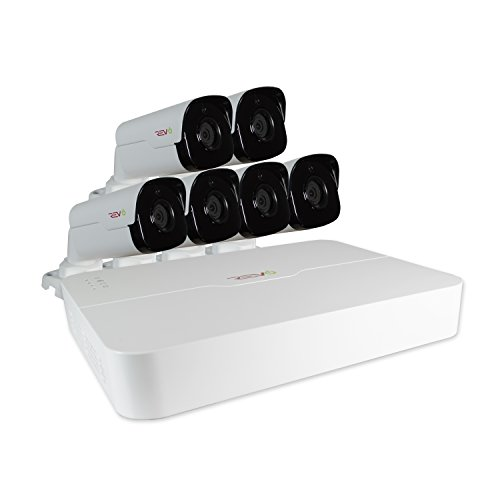 REVO America RU81B6G-2T Ultra HD 8-CH 2TB NVR Surveillance System with 6 x 4 Megapixel Bullet Cameras (White) by REVO America