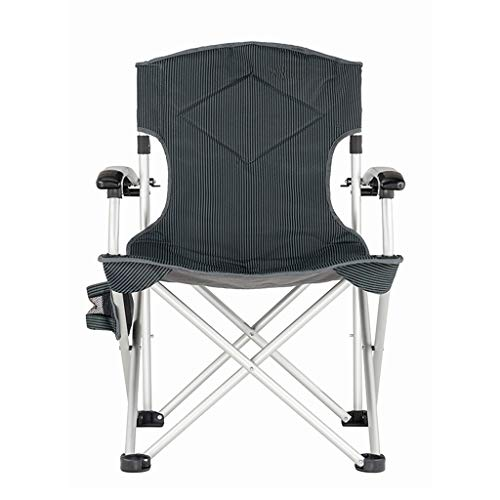 - YiHuiHui A+ Two-Layer Black Durable Cotton Folding Backrest Chair,Portable Casual Home Dining Table High-Strength Chair,Thick Silver Aluminum Non-Slip Camping Chair