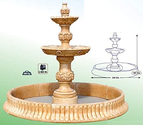 DEGARDEN Fuente Central Verona con Estanque hormigón-Piedra Exterior jardín 224X191cm.: Amazon.es: Jardín