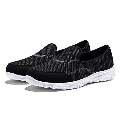 Black Mesh Casual Women's On Sports Running Slip Madaleno Lightweight Trainers Walking Sneakers Shoes 6Z7TxF