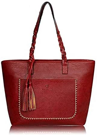 3 سي 4 جي حقيبة للنساء-احمر داكن - حقائب كبيرة توتس