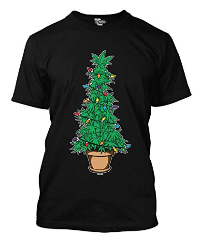 Tcombo Marijuana Christmas Tree Mens T Shirt  Black  Xx Large