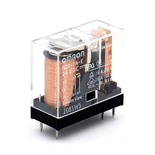OMRON ELECTRONIC COMPONENTS G2R-1A-E-DC24 POWER RELAY SPST-NO 24VDC, 16A, PC BOARD ()