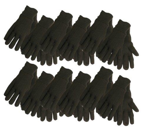 Cotton Jersey Work Gloves , 7792P12, Size: Cadet, Brown, 12-Pack