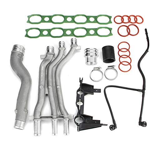 Aluminum Coolant Pipe Upgrade Kit 10 Pieces for 2003-2006 Porsche Cayenne 4.5 V8