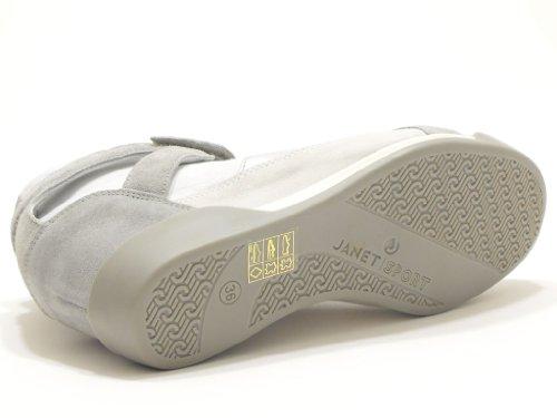 Janet Sport , Baskets pour femme Blanc Bianco perla
