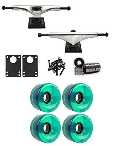 コア6.0 Longboard Trucksホイールパッケージ65 mm x 36 mm 83 a 341 Cグリーンクリア [並行輸入品]   B078WTVNLL