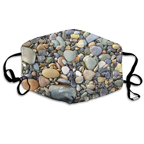 Unisex Unique Mouth Mask - Pebble Stone Pattern Art Polyester Anti-dust Masks - Fashion Washed Reusable Face Mask for Outdoor Cycling - Sooners Pebble Oklahoma
