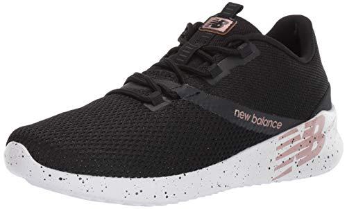 New Balance Women's District Run V1 CUSH + Sneaker, Black, 10.5 W US