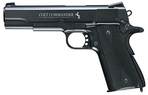 Colt Commander Blowback Metal Frame .177 BB Gun Air Pistol, Colt Commander Air Pistol