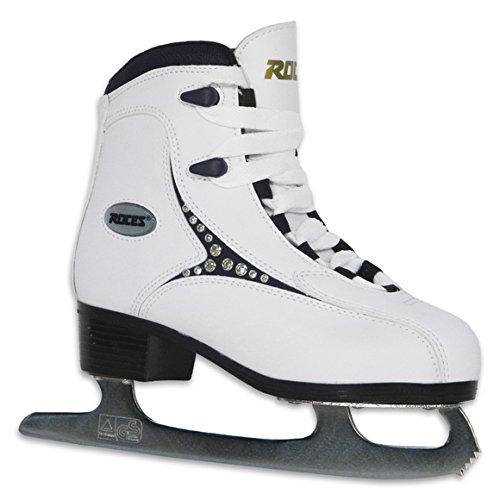 Roces Women's 543 Softboot Figure Skate Ice Skates,White/Black Diamond,6 M