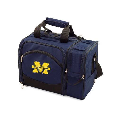 NCAA Michigan Wolverines Malibu Picnic Tote with Deluxe Picnic Service for ()