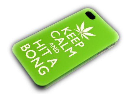 Apple iPhone 4/4S Keep Calm and Hit A Bong Hard Case Protection Housse Carry On Weed thematys