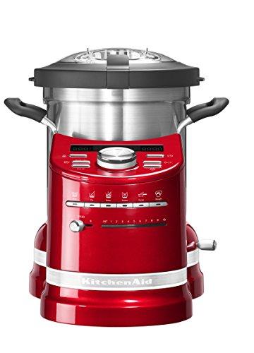 KITCHENAID 5KCF0103EER/4 Artisan Küchenmaschine mit Kochfunktion Empirerot 1500 Watt