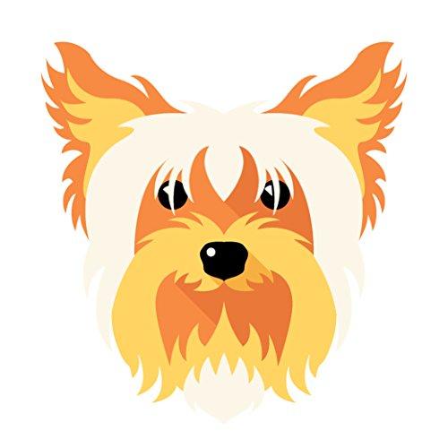 Adorable Yorkie - Adorable Scruffy Yorkie Puppy Dog Vinyl Decal Sticker (4