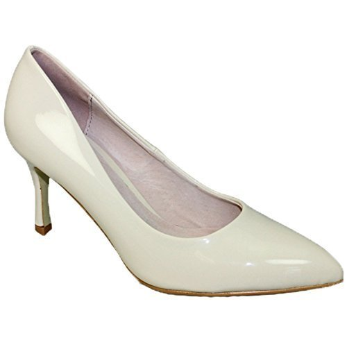 Padded Only shoe Boutique Toe Pointed Beige Flc090 Formal Heeled Shoe Mid Court Petal Sapphire Patent Insole wq6dZUYxt