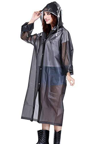 Trasparente Ambientale Eva Poncho And Ragazza Raincoat Huixin Portatile Grau Rain Luce Women Impermeabile Con taRqwnA