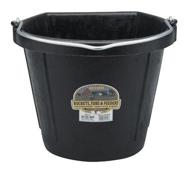 Little Giant Flat-Back Rubber Bucket, 5-Gallon