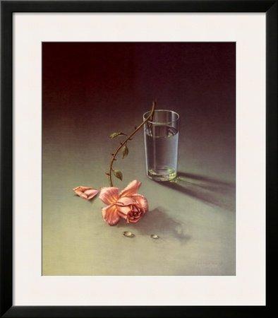 (Weeping Rose Framed Art Poster Print by Vladimir Tretchikoff, 28x32)