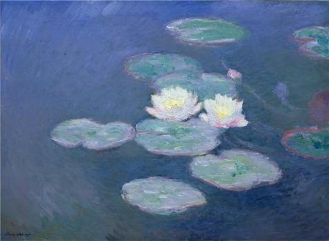 Oil Painting 'Water Lilies, Evening Effect, 1898 By Claude Monet' 20 x 27 inch / 51 x 69 cm , on High Definition HD canvas prints is for Gifts And Bath Room, Bed Room And Foyer (Spirit Halloween Utah)