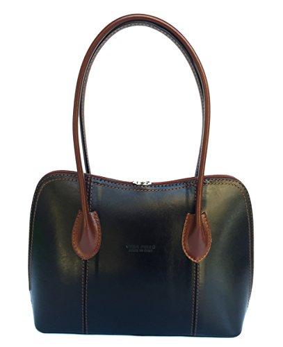 Superflybags - Womens Shoulder Bag M + Marrone Nero