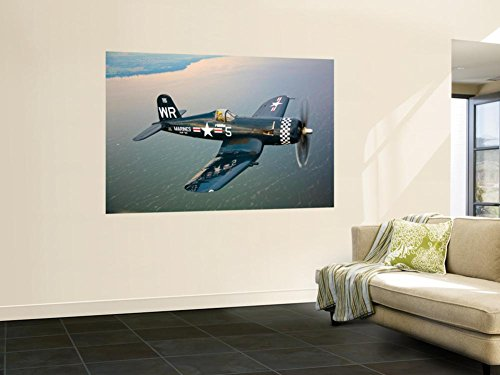 A Vought F4U-5 Corsair in Flight Wall Mural by Stocktrek Images 48 x 72in (F4u Corsair Colors)