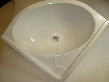 Caravan Campervan Bathroom Wall Hung Corner Basin Sink White 24642
