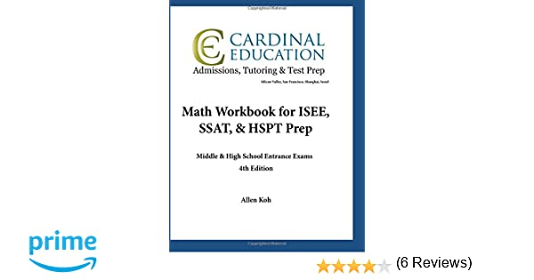 Math Workbook for ISEE, SSAT, & HSPT Prep: Middle & High School ...