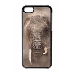 African Elephant Unique Design Cover Case with Hard Shell Protection for iphone 5/5s iphone 5/5s Case lxa#821367