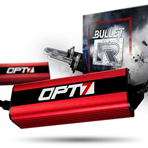 OPT7 Bullet-R H7 HID Kit - 3X Brighter - 4X Longer Life - All Bulb Sizes and Colors - 2 Yr Warranty [6000K Lightning Blue Xenon ()