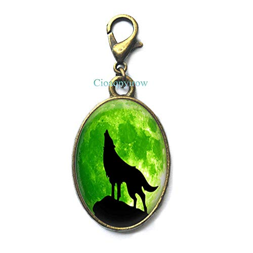 Cioaqpyirow Wolf Zipper Pull,Wolf Jewelry,Wolves Gift for Women Handmade,Animal Jewelry Moon Jewelry Wolf Jewelry,HO0E287]()