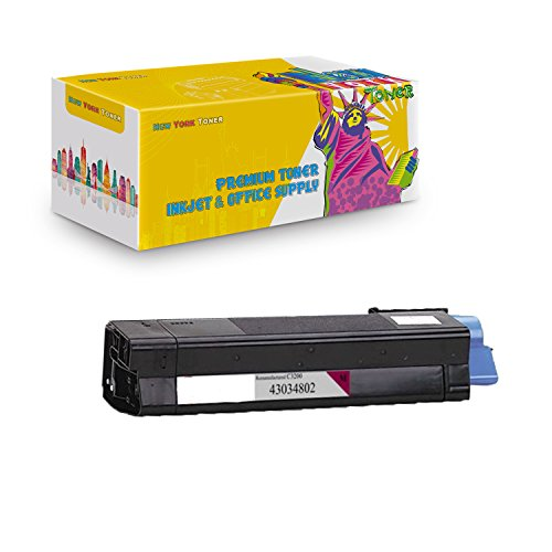(New York TonerTM New Compatible 1 Pack 43034802 High Yield Toner For OKI : C3100   C3100n. --Magenta)