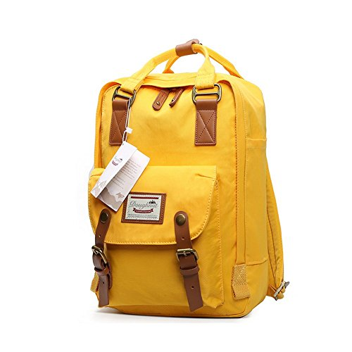 ANONE Water Resistant Durable School Rucksack Travel Backpack 15Inch (Yellow)