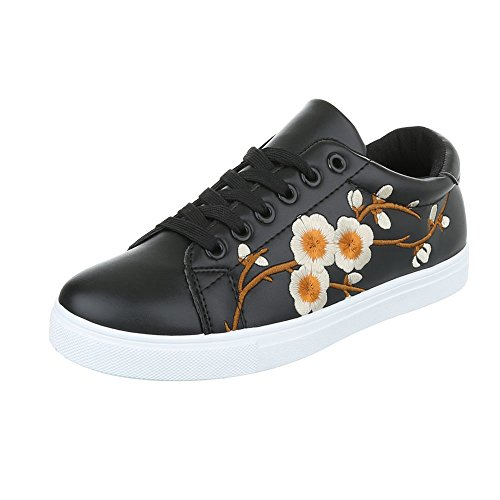 Ital-Design - Zapatillas de casa Mujer Schwarz 89-86