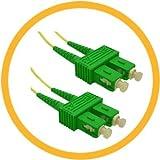 12M SC/APC-SC/APC 9/125 Singlemode Duplex (Genuine Plus Corning Glass) Fiber Jumper Zipcord Cables 2.0 Jacket / BIF