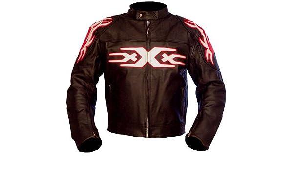 kc009 chaqueta moto quad piel negro Karno - Triple XXX estilo: Amazon.es: Coche y moto