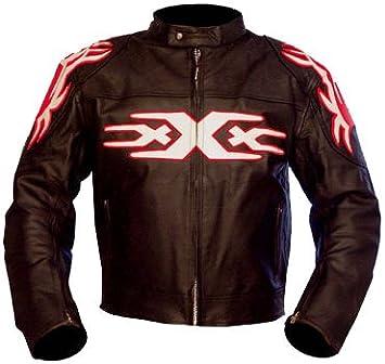 kc009 chaqueta moto quad piel negro Karno - Triple XXX ...