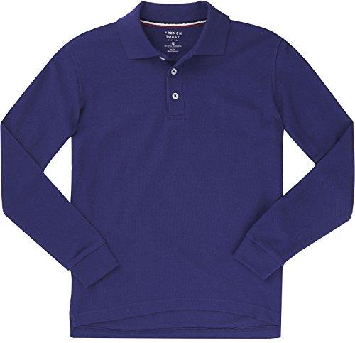 Boys medium purple polo shirt for Purple polo uniform shirts