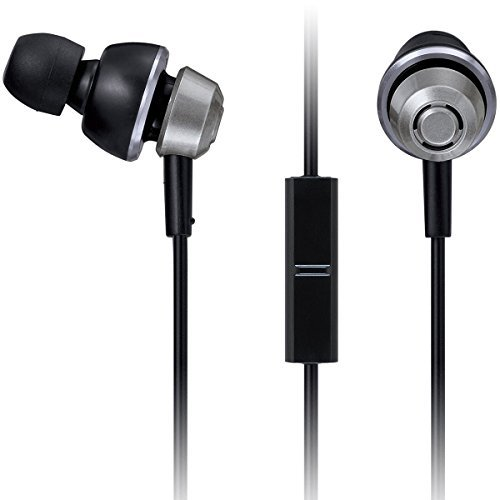 Panasonic drops360° Premium In-Ear Stereo Headphones with Mic + Controller RP-HJX6M-S (Metallic Silver) with Travel Pouch, Powerful Bass