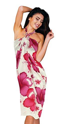 Pavinee's Sarong fot the beach women sarong wrap Chaba Flower Pink (06)