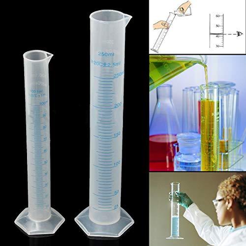 Casavidas 2018 Nuevo tubo de plástico para frasco de prueba de 100/250 ml Hidrómetro Homebrew Homebrew: 250 ml
