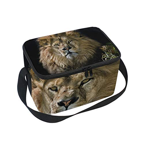 Portrait for Shoulder Cooler Lion Strap Picnic Male Lunch Lunchbox Bag Owq1O4